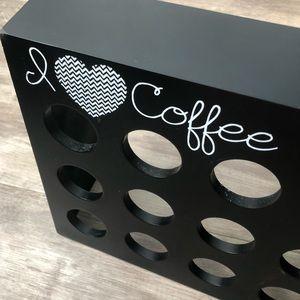 "Farmhouse ""I ♥️ coffee"" Keurig Cup Holder"